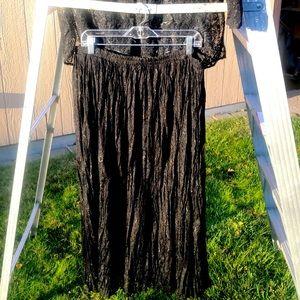 EUC Carole Little II Black Lace Skirt 24W